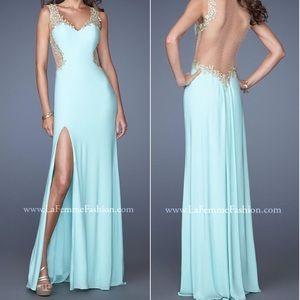 Light mint formal gown